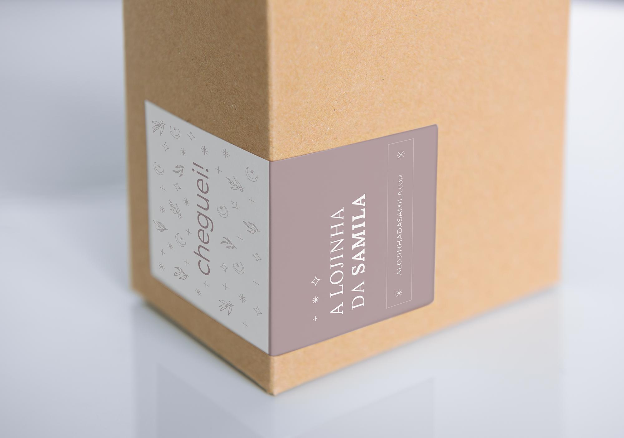 Identidade Visual e Layout para Loja Online exclusiva para A Lojinha da Samila - Design by Adrielly Sato