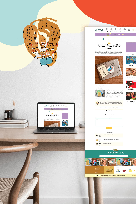 Identidade Visual & Website Layout exclusivos para A Taba - Design by Adrielly Sato