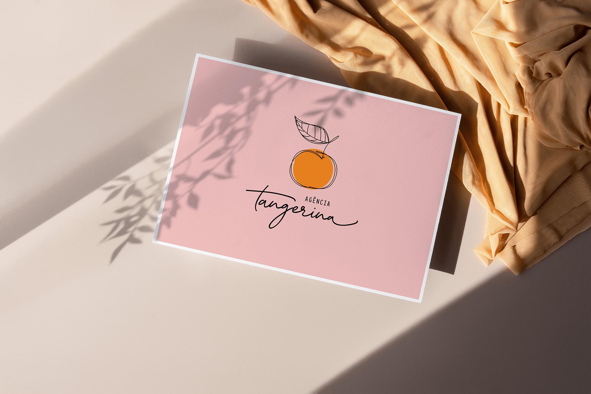 Identidade Visual exclusiva para Agência Tangerina - Design by Adrielly Sato
