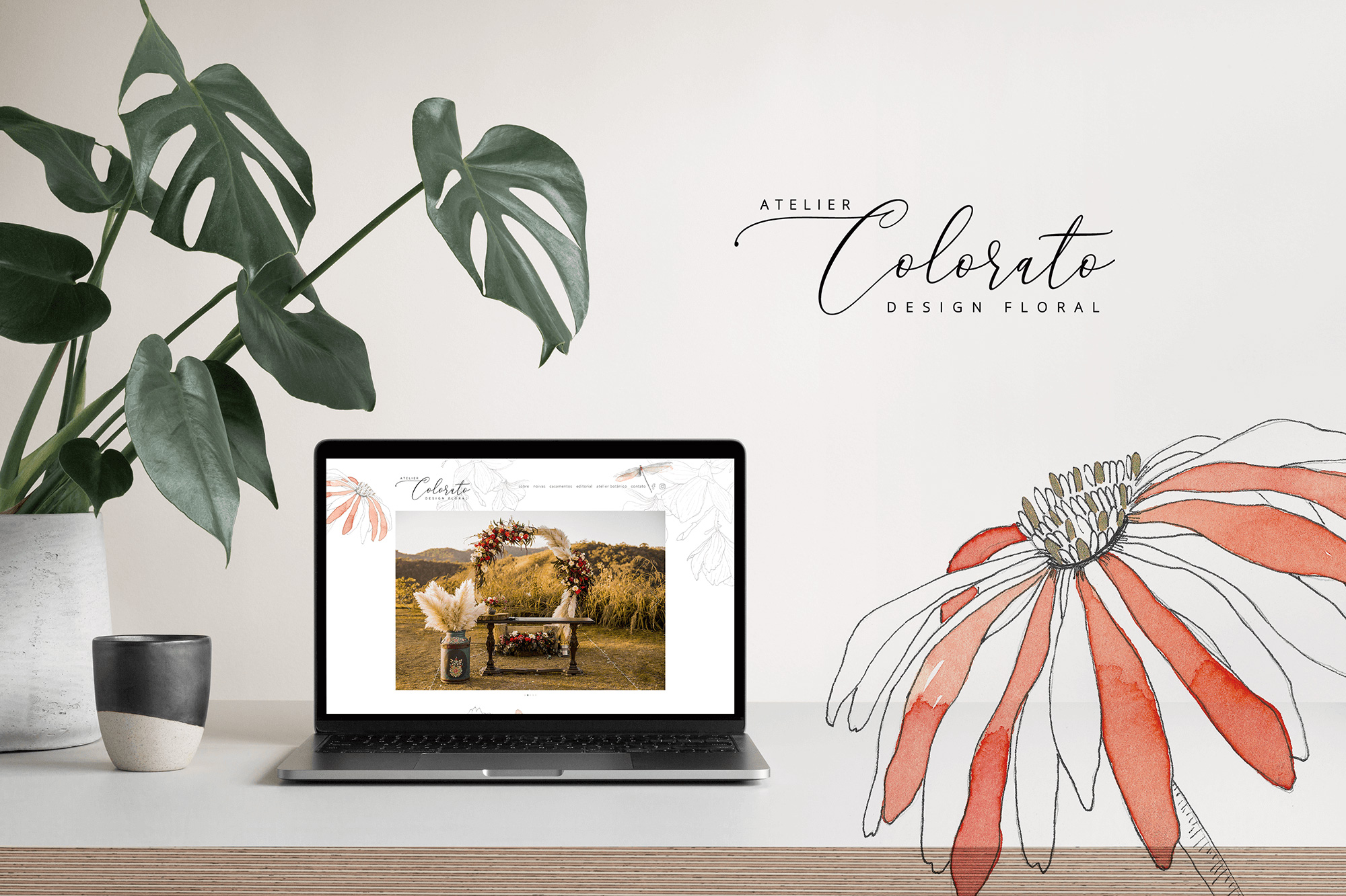 Website Layout exclusivo para Atelier Colorato - Design by Adrielly Sato