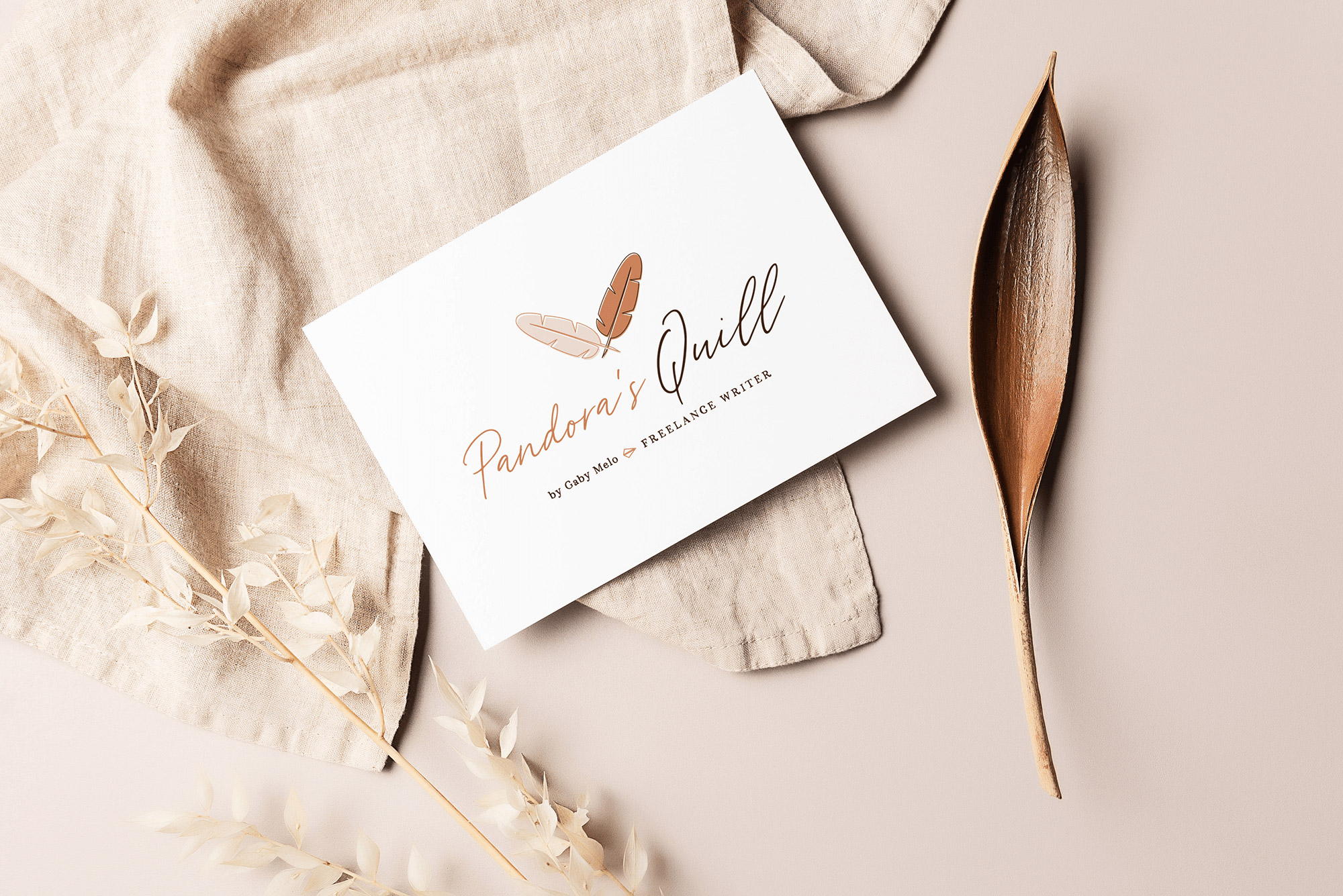 Identidade Visual exclusiva para Pandora's Quill - Design by Adrielly Sato