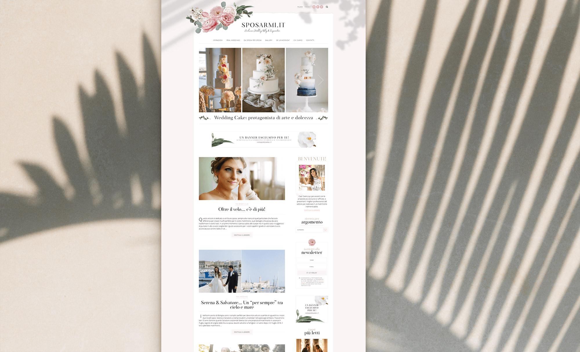 Identidade Visual & Website Layout exclusivos para Sposarmi.it - Design by Adrielly Sato