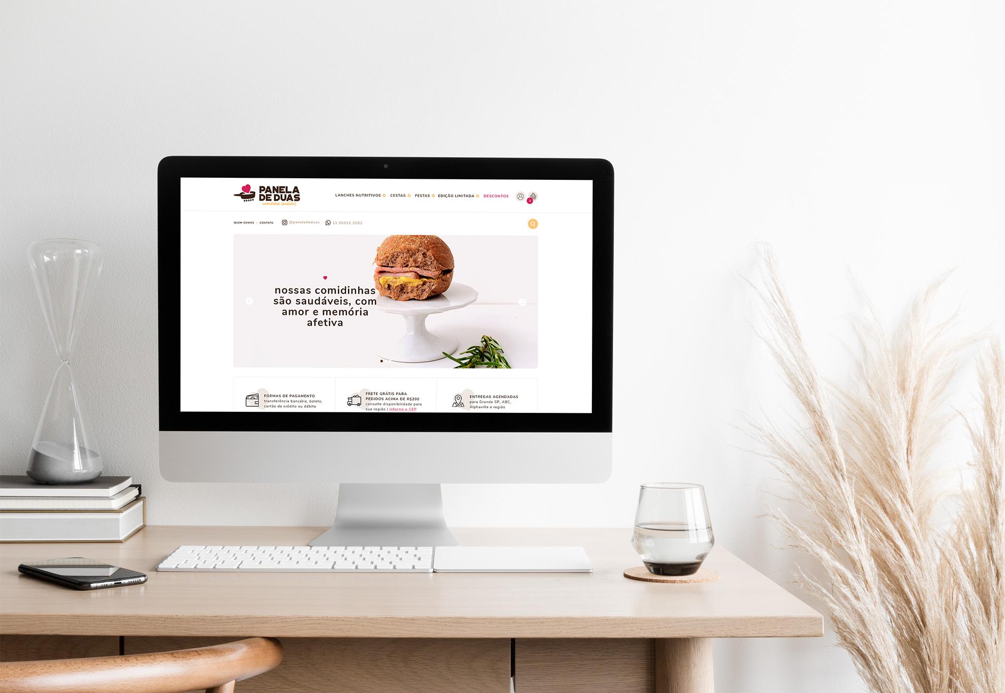 Layout para Loja Online exclusiva para Panela de Duas - Design by Adrielly Sato