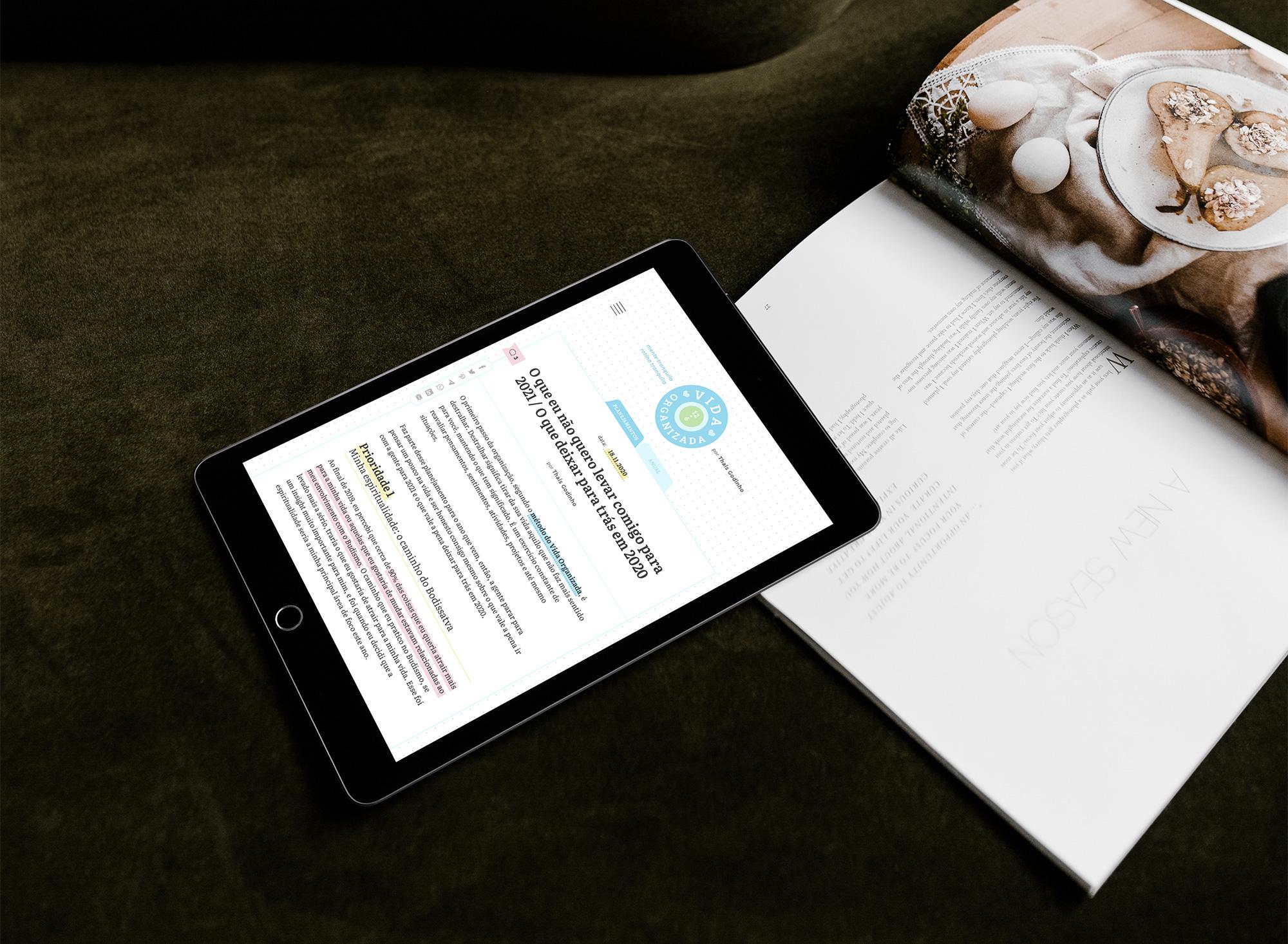 Layout para WordPress Blog exclusivo e personalizado para Vida Organizada Thais Godinho - Design by Adrielly Sato
